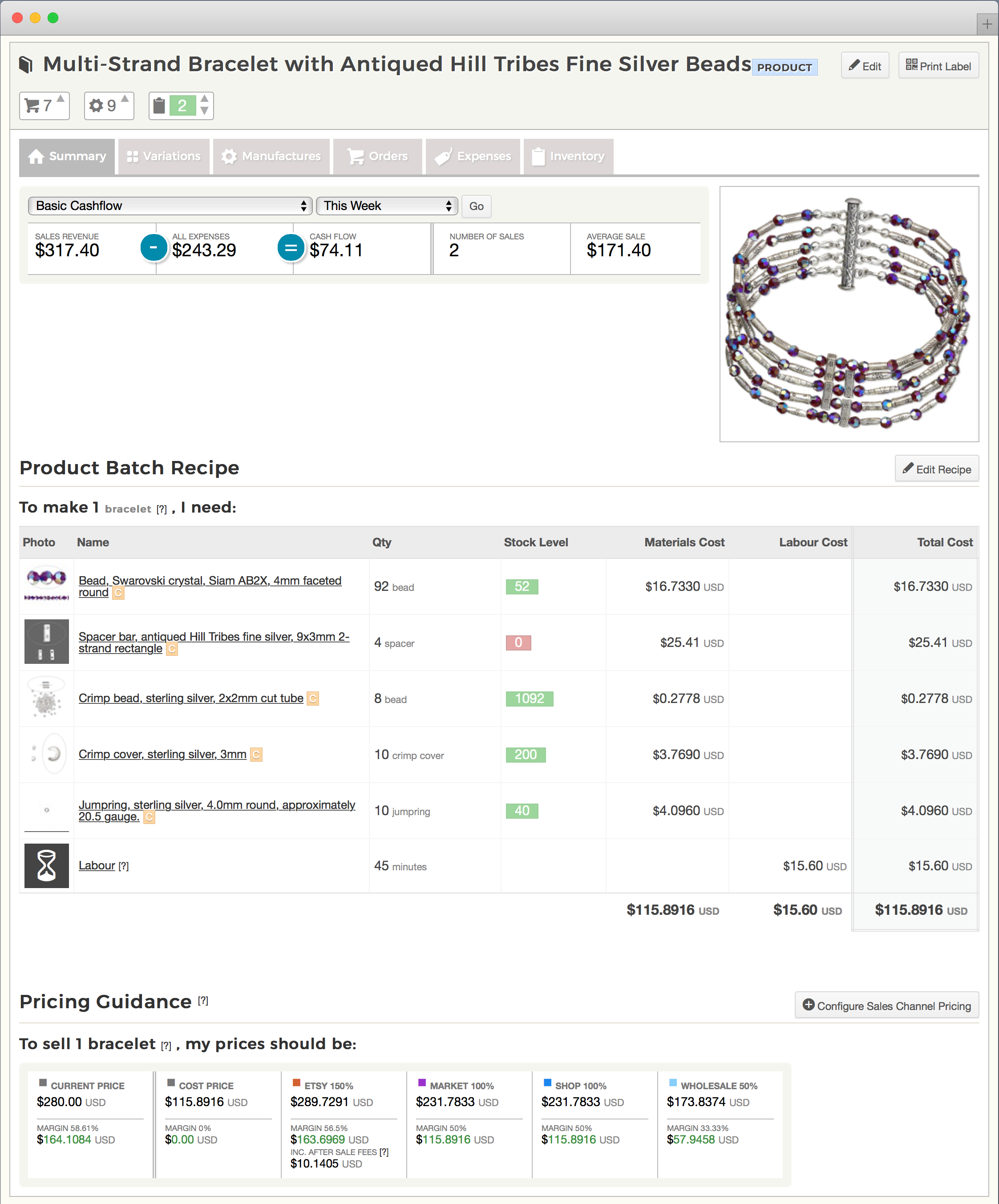 Jewelry Inventory Software   Craftybase