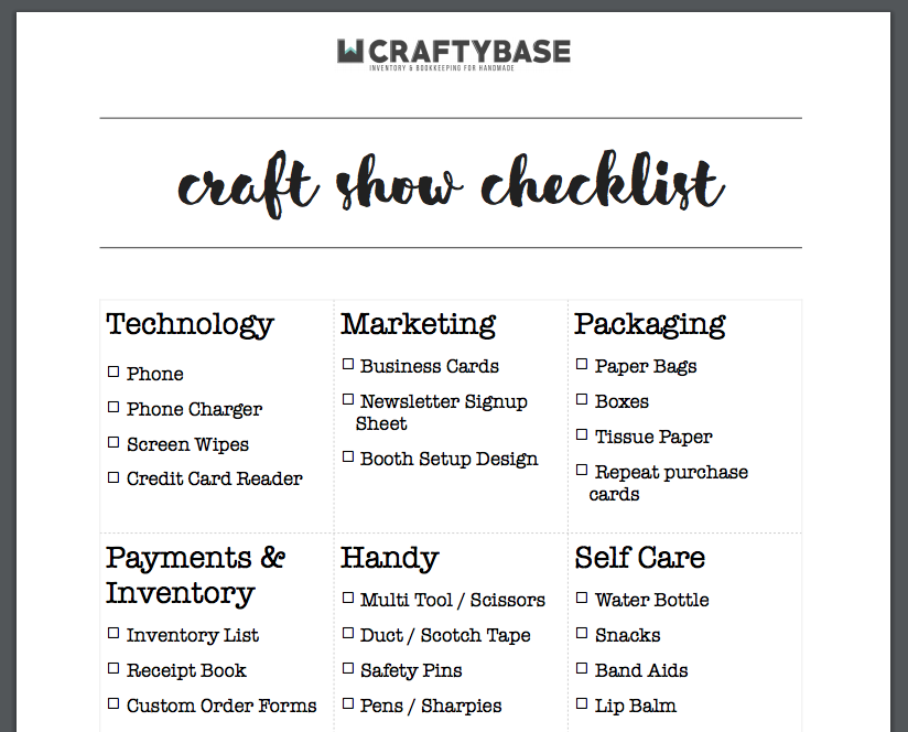 craft-show-checklist-printable-free