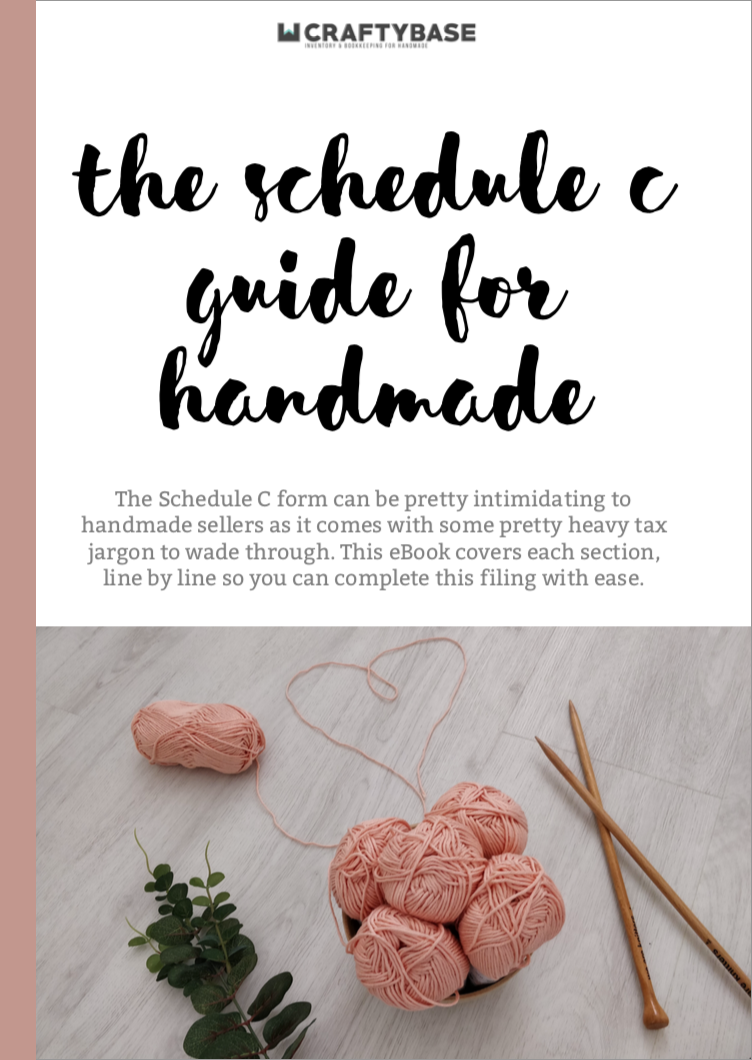 Schedule C Guide for Handmade Sellers Cover